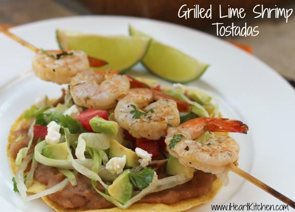 Grilled Lime Shrimp Tostadas