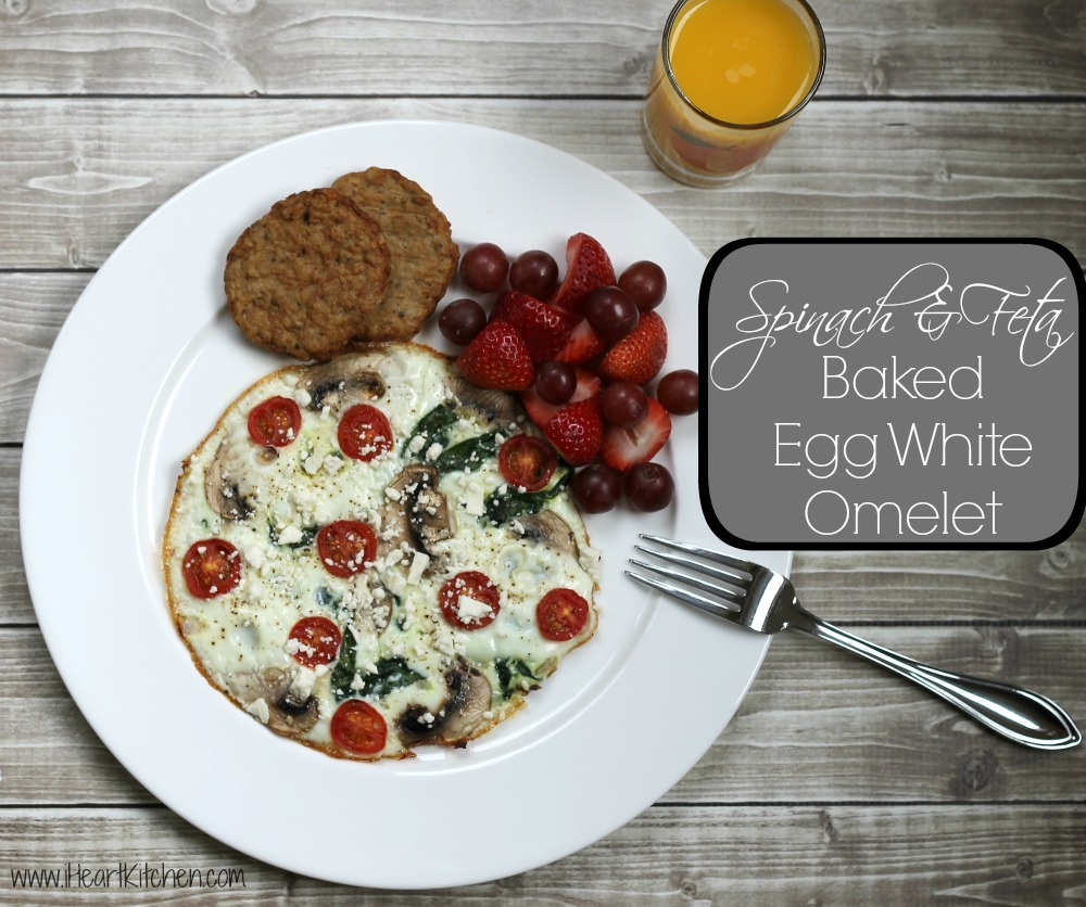 Spinach & Feta Baked Egg White Omelet