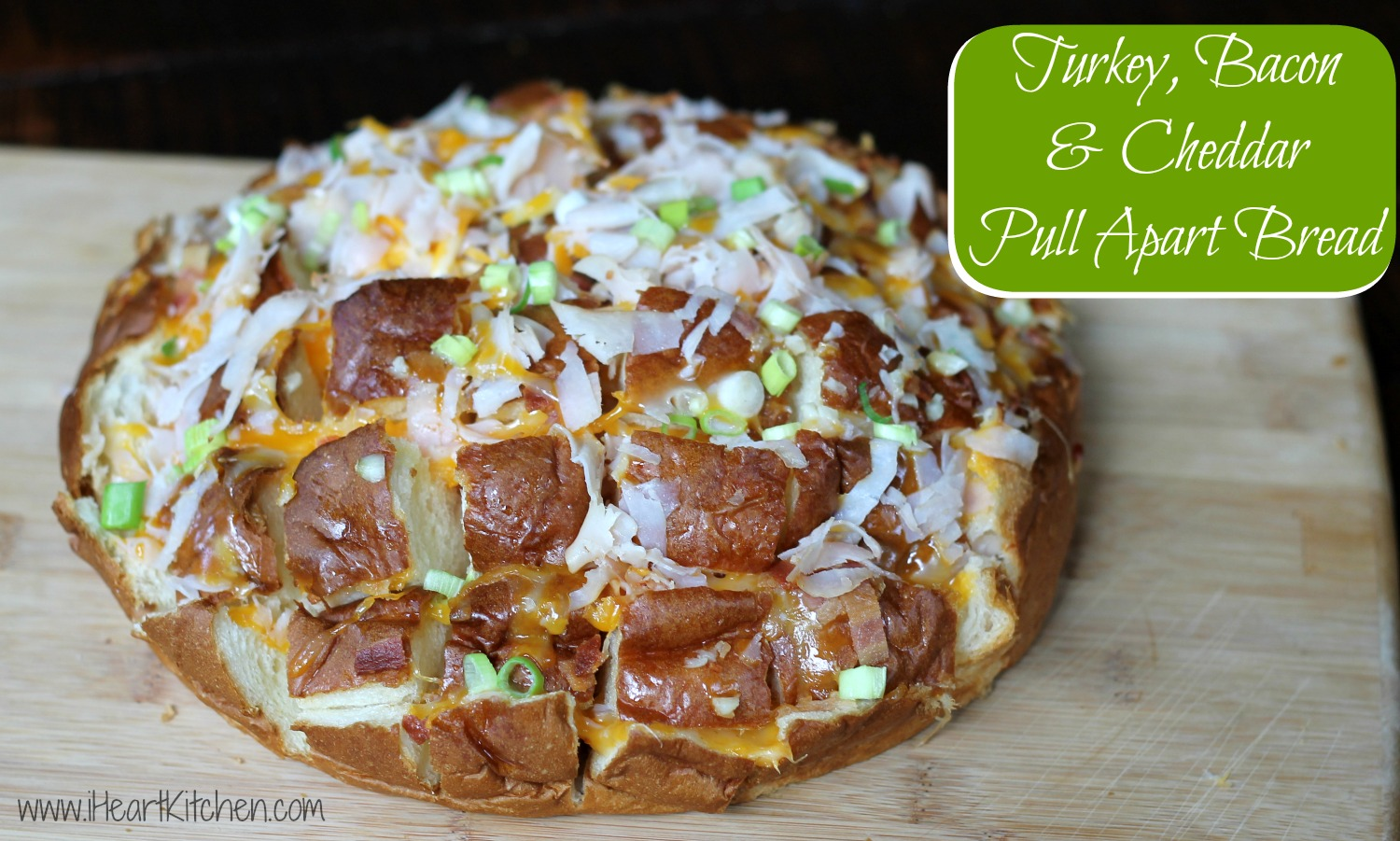 Turkey Bacon & Cheddar Pull Apart Bread