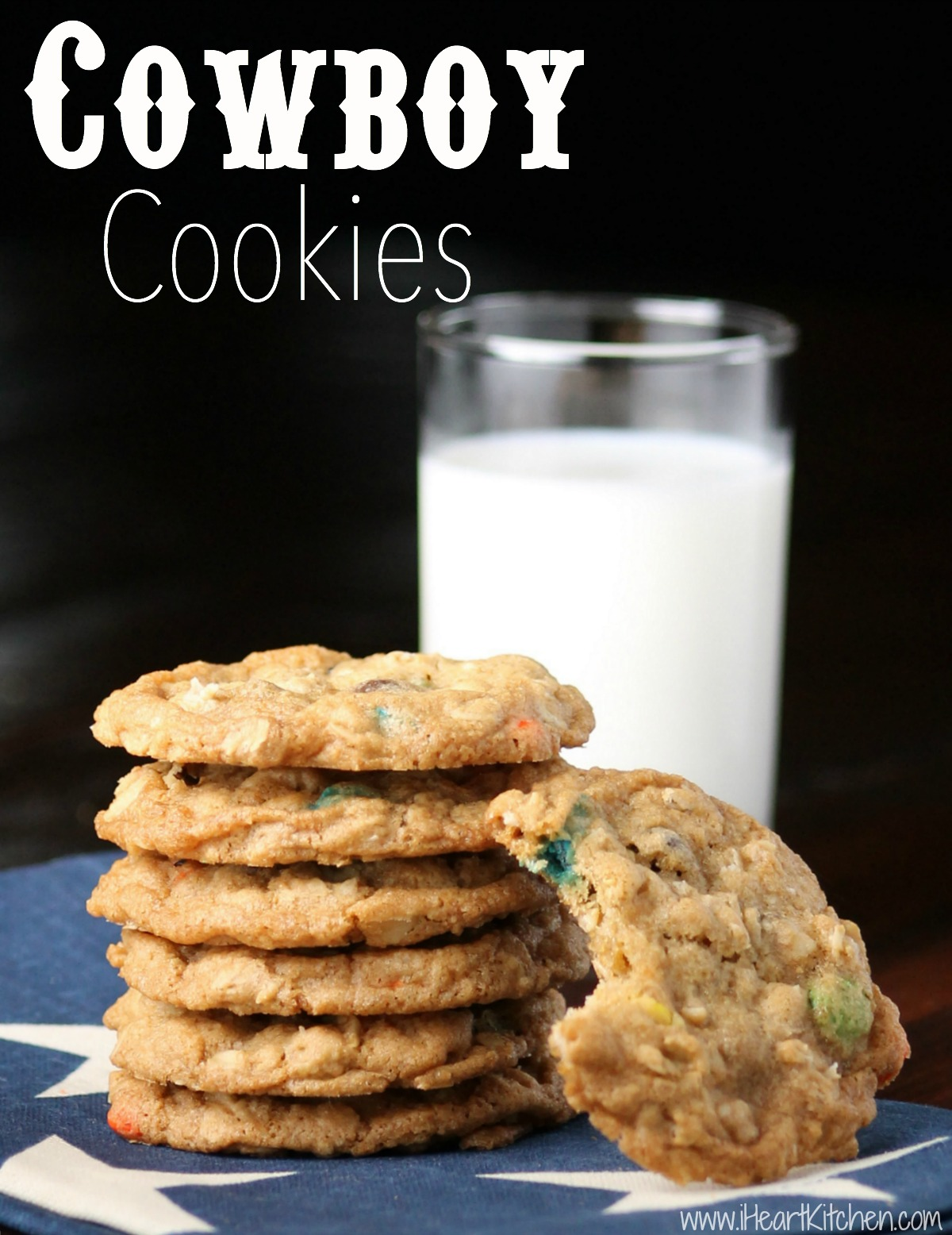 Cowboy Cookies - Crunchy, Chewy & Delicious! - I Heart Kitchen