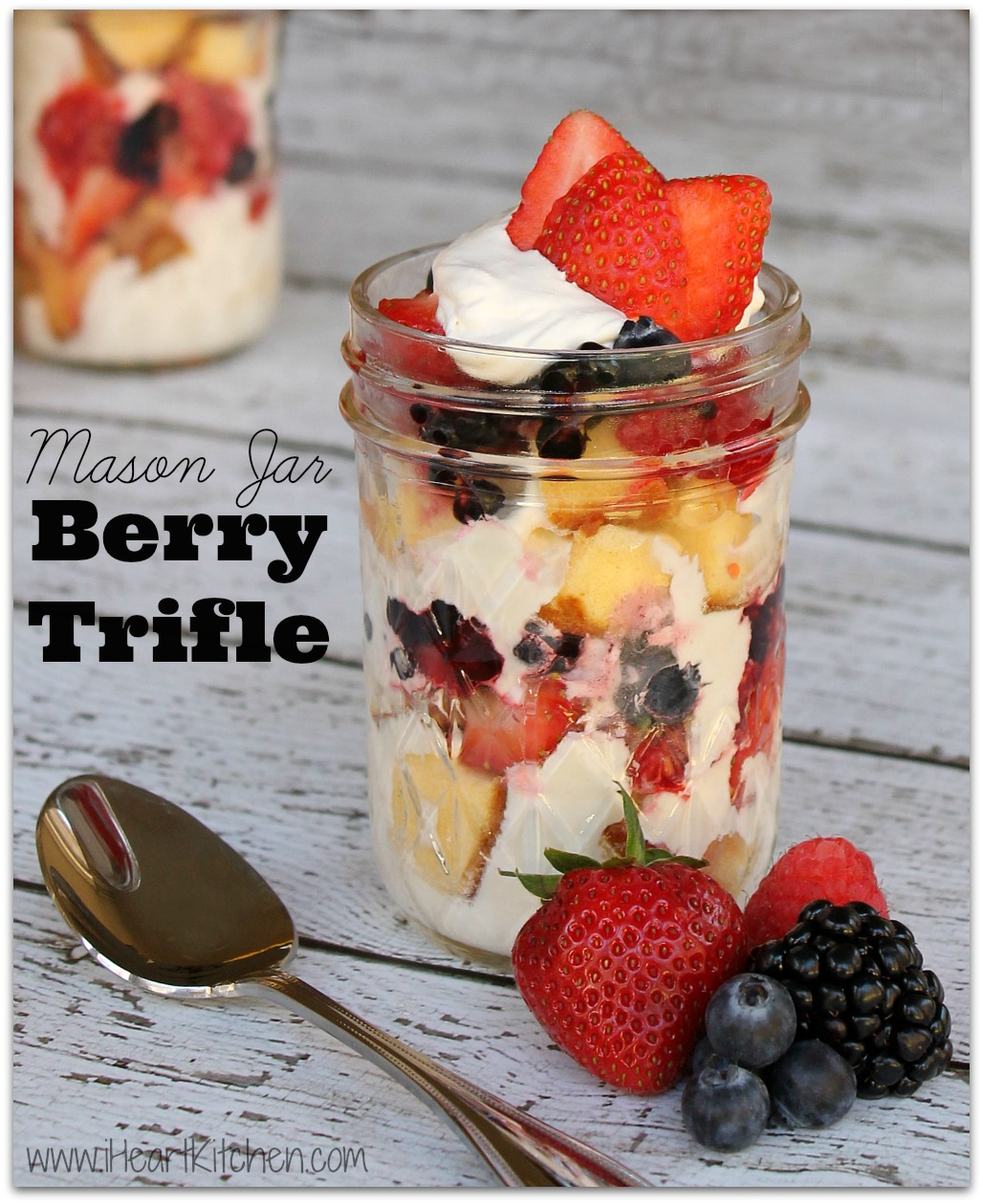 Mason Jar Berry Trifle