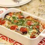 Easy Roasted Eggplant Parmesan
