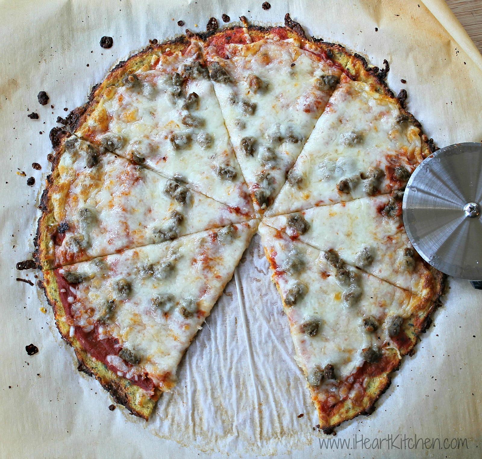 Cauliflower-Crust-Pizza-Sausage-