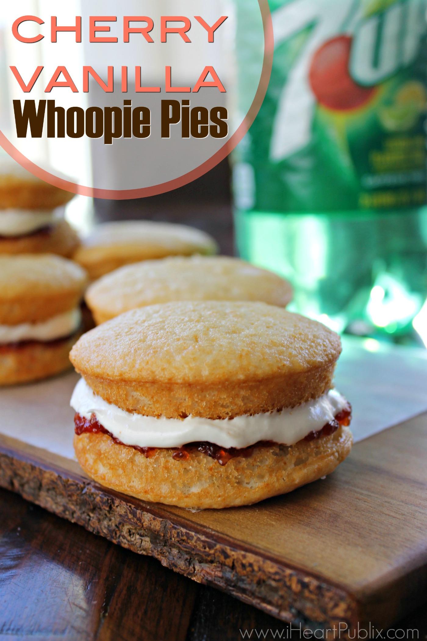 Cherry Vanilla Whoopie Pies